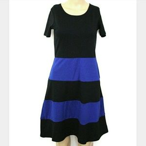 Star Vixen S, Blue Striped Fit & Flare Mini
